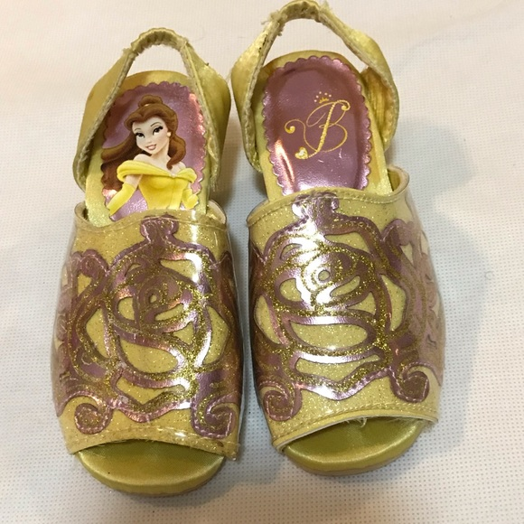 Disney Store Princess Belle Flip Flops Sandals Shoes Girl Size 9//10 11//12 13//1